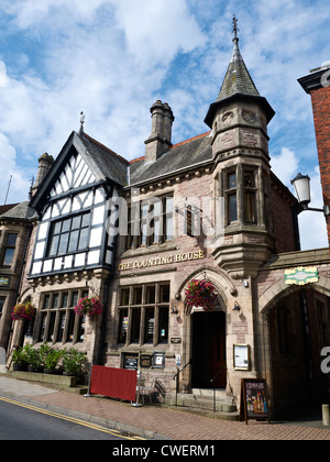 The Counting House, former Nat West bank, now a J D Wetherspoon pub in Congleton Cheshire UK - Stock Photo