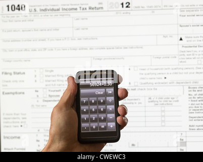 Man Holding Us Tax Form W 9 Tax Form Law Document Irs Business