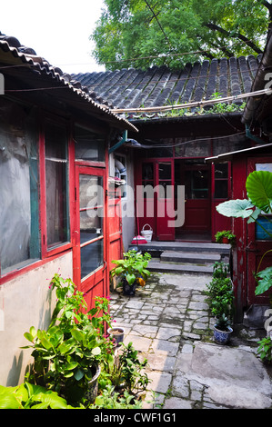 view inside a chinese hutong - Stock Photo
