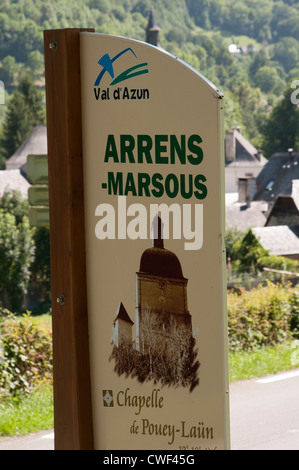 Village of Arrens - Marsous in the Val d' Azun southwest France Pyrenees National Park area - Stock Photo