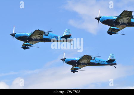 The Blades Aerobatic Display Team, Royal Air Forces Association, taking off at Farnborough International Airshow - Stock Photo