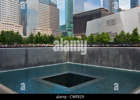 The National September 11 Memorial, New York City, designed by Arad and Walker, opened on 10th anniversary of attacks - Stock Photo