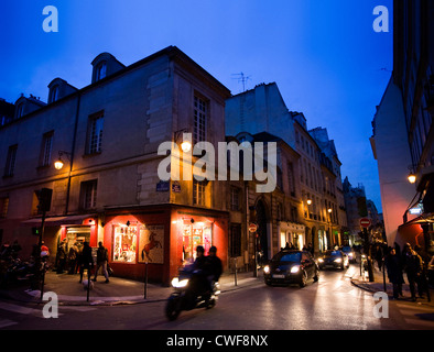 Marais district in Paris - Stock Photo