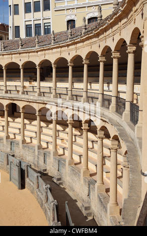 The oldest Spanish Bullring in Ronda, Andalusia Spain - Stock Photo