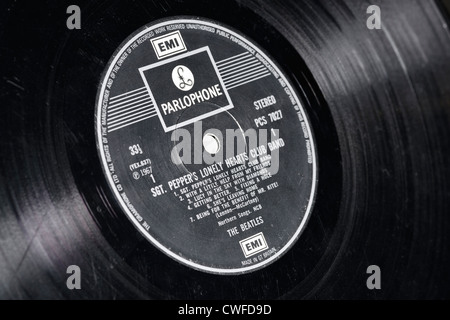 Sgt. Pepper's Lonely Hearts Club Band record by The Beatles - Stock Photo