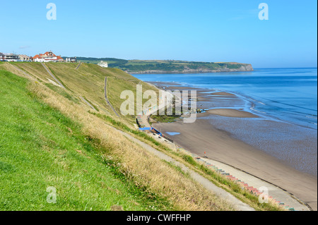 west cliff beach whitby north yorkshire england uk - Stock Photo