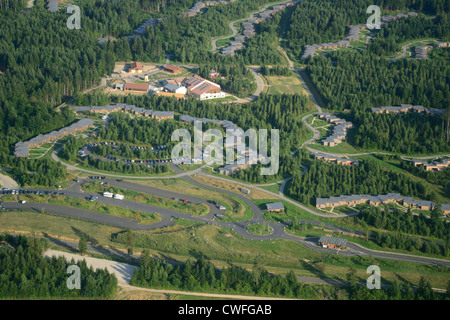 aerial view of trois forets holiday park by center parcs company stock photo royalty free image. Black Bedroom Furniture Sets. Home Design Ideas