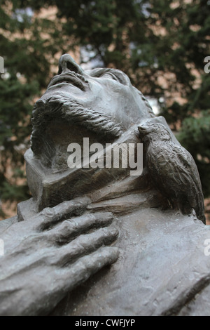 A statue of St. Francis at St. Mary's hospital in Rochester, Minnesota. - Stock Photo