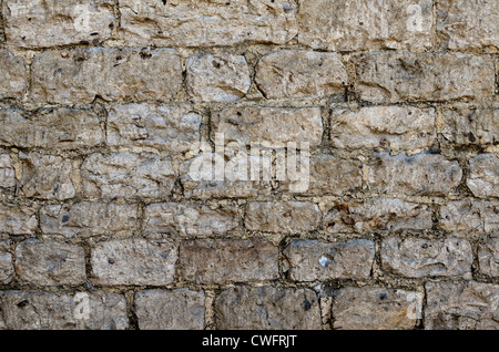 Denial of access, computer security. Stone building wall / detail of weathered stonework with lime mortar  - western - Stock Photo