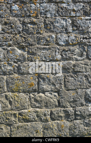 Denial of access, computer security / firewall concept.  Stone building wall / detail of weathered stonework - western - Stock Photo