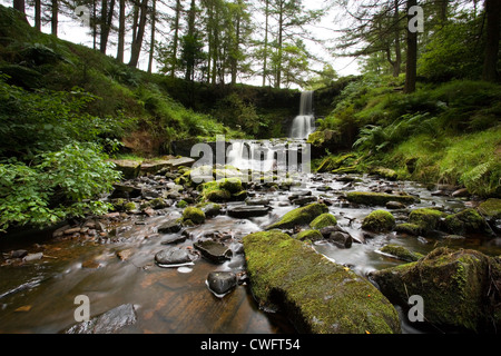 Waterfall at Blaen-y-glyn - Stock Photo