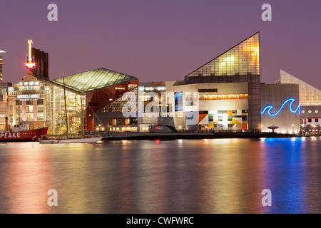Inner Harbor, Baltimore, Maryland includes National Aquarium - Stock Photo