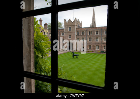 Jesus College in the University City of Cambridge, England. 8-2012 - Stock Photo