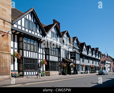 The Mercure Shakespeare Hostelrie medieval half timbered hotel High Street Stratford upon Avon Warwickshire England - Stock Photo