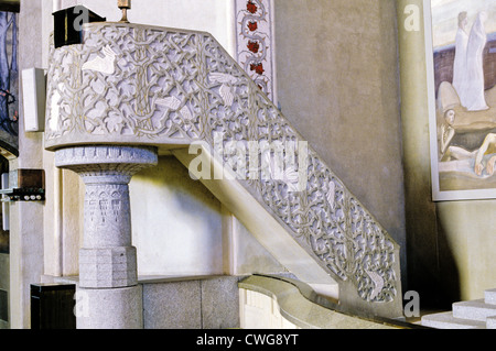 Pulpit in the Tampere Cathedral, Finland - Stock Photo