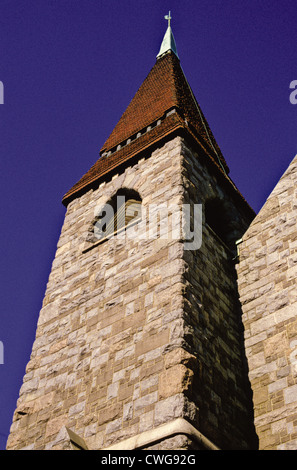 Tower of the Tampere Cathedral, Finland - Stock Photo