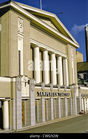 Main entrance to the 1913 Tampere Theatre building (Tampereen Teatteri) in Tampere, Finland - Stock Photo