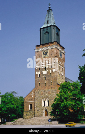Turku Cathedral in Turku, Finland - Stock Photo