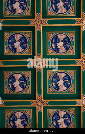 Ornate decorative ceiling at Beihai Park in Beijing, China - Stock Photo