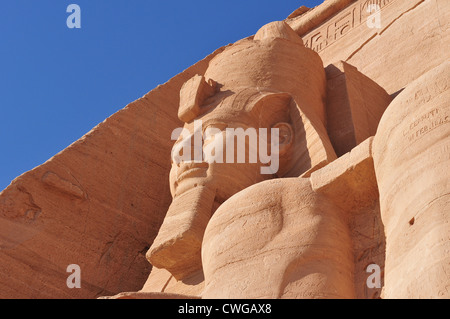 Pharoah Monument from Abu Simbel. The Abu Simbel temples are two massive rock temples in Abu Simbel (أبو سمبل in - Stock Photo