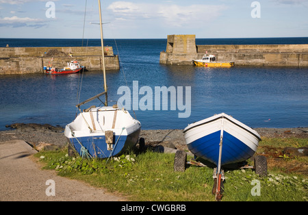 Craster harbour Northumberland coast England - Stock Photo
