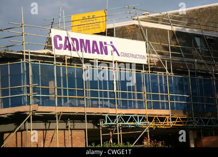 Cadman Construction scaffolding Mercury theatre Colchester Essex England - Stock Photo