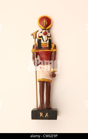A collectible Egyptian model figure, The God Ra. - Stock Photo