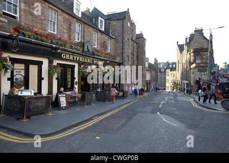 greyfriars bobby bar and candlemaker row edinburgh, scotland, uk, united kingdom - Stock Photo