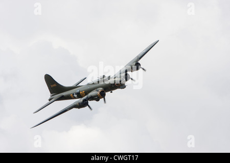 Boeing B-17 Flying Fortress 'Sally B' at Little Gransden - Stock Photo