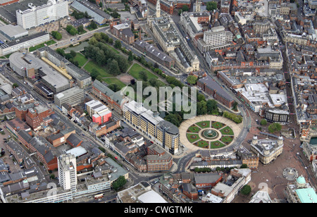 aerial view of Queen's Gardens, Hull, East Yorkshire - Stock Photo