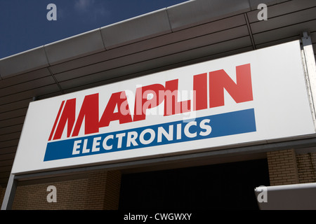 maplin electronics retail store in out of town retail park Livingston, Scotland, uk, united kingdom - Stock Photo