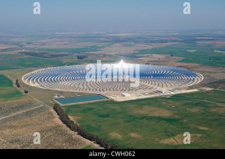 Solar power plant in remote area