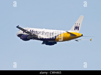 Monarch Airbus A320, Gatwick Airport, Sussex, England - Stock Photo