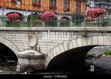 Pyrenean village of Arreau, France - Stock Photo