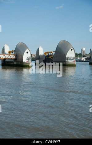 The Thames Barrier on the River Thames - Stock Photo