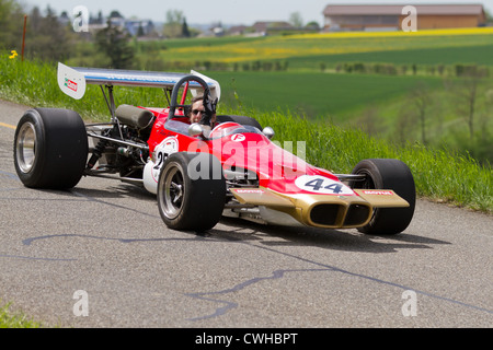 Vintage race car Lotus 59 Formel 2 from 1969 at Grand Prix in Mutschellen, SUI on April 29, 2012. - Stock Photo