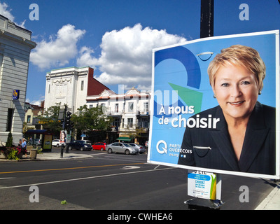 The party Quebecois has big chances to win on the 4th September 2012-They support the separation of Quebec from - Stock Photo