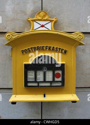 Dresden, historic mailbox - Stock Photo
