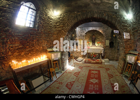 Ephesus, Interior view of the house of the Virgin Mary - Stock Photo