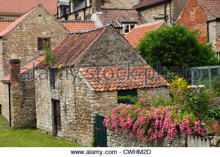 Pantile roofs at Helmsley North Yorkshire England - Stock Photo