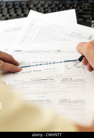 Closeup Of Us Federal Income Tax Refund Check Usa Stock Photo