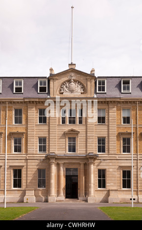 Exterior facade of the Former Army Staff College Royal Military Academy Sandhurst - Stock Photo