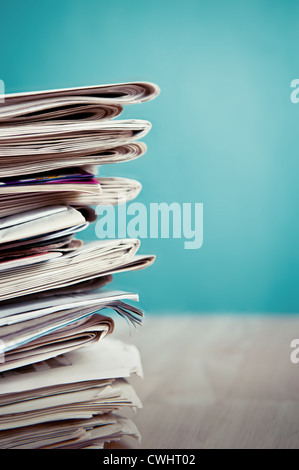 newspaper,stack of newspaper,recycled paper - Stock Photo