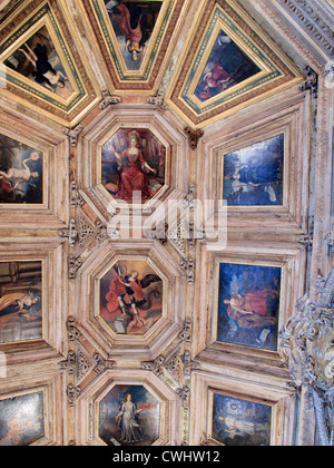 ceiling detail inside the cloisters Se Cathedral Porto Portugal - Stock Photo