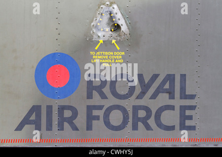 Royal Air Force roundel detail - Stock Photo