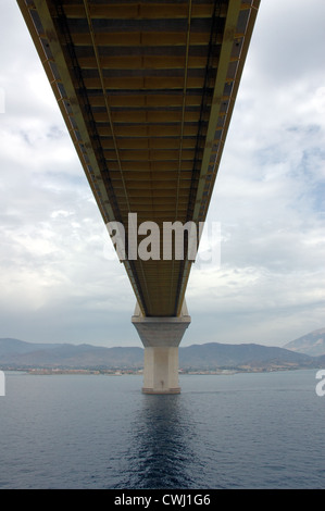 Rio-Antirio bridge, Greece - Stock Photo