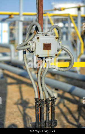 device, dirty, electric, electrical, electricity, energy, equipment, industrial, industry, metal, old, outdoor, - Stock Photo