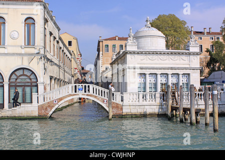 Italy. Venice. Bridge over the canal - Stock Photo