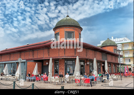 Historic market hall, Olhao, Algarve, Portugal - Stock Photo