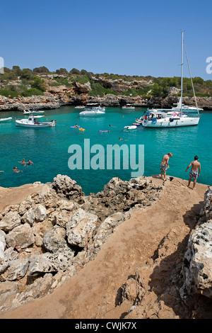 Cala Sa Nau. Mallorca Island. Spain - Stock Photo